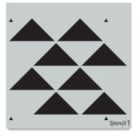 Staggered Triangle Stencil, Repeat Pattern