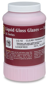 LG-10 Clear Transparent Glaze, Pint