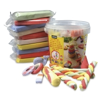 Sidewalk Chalk Clay Pail, Pkg of 10, shown with sample artwork (not included)