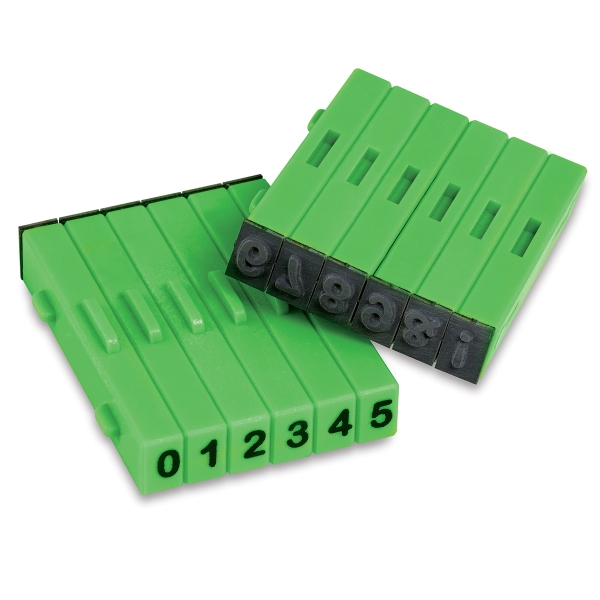 Attachable Stamps, Set of 12, Numbers