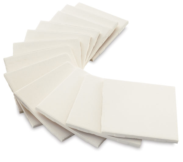 Ceramic Bisque Tiles, Box of 12