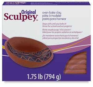 Original Sculpey, Terra Cotta, 1.75 lb Package