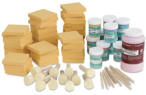 Balsa Foam and Underglaze Printing Class Pack