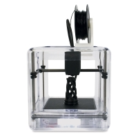 Micro Plus 3D Printer, Clear (Shown in use)