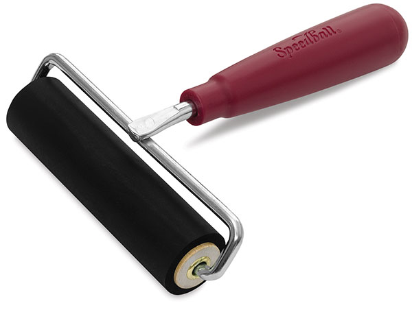 Deluxe Hard Rubber Brayer with Wire Frame