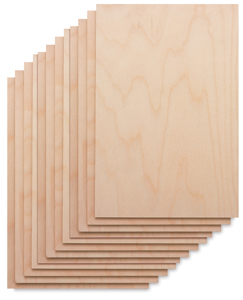 Wood Printing Blocks, Pkg of 12