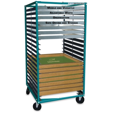 """Rack with 20 Shelves, for Screen Widths from 15"""" to 46"""""""