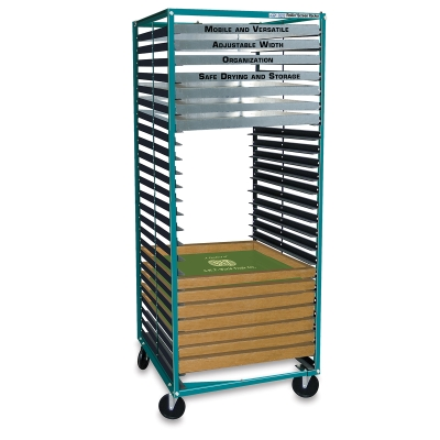 """Rack with 25 Shelves, for Screen Widths from 15"""" to 46"""""""
