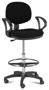 Drafting Stool, Black