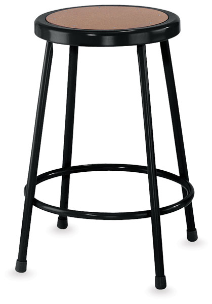 Fixed Height Stool, Black