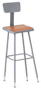 Heavy-Duty Square Stool