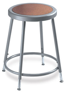 Adjustable Stool without Backrest, Grey