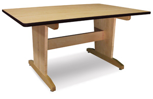 Art Table, Laminate Top without Shelf