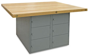 12-Locker Workbench without Vises, Medium