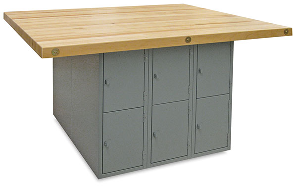 12-Locker Workbench without Vises, Large