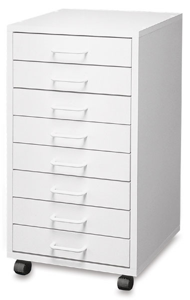Mobile 8-Drawer Taboret