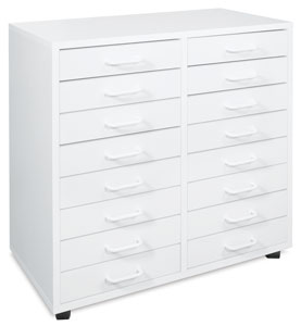 Mobile 16-Drawer Cabinet