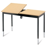 CAD Station Graphic Arts Table, Maple/Black
