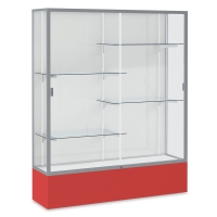 Satin Aluminum Frame / Red Base