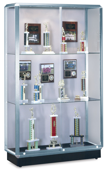 Lighted Display Case, Chrome