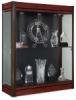 Wall Display Case, Cherry Base wtih Dark Bronze Frame and Black Backing