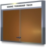 Claridge Cork Bulletin Board Cabinets With Sliding Doors