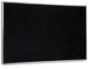 Recycled Rubber Tackboard, Black