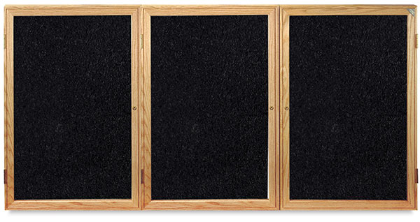 Oak Frame Tackboard, 3 Door