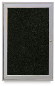 Satin Aluminum Frame Tackboard, 1 Door