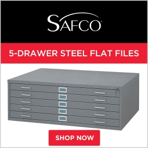 Safco 5-Drawer Steel Flat Files