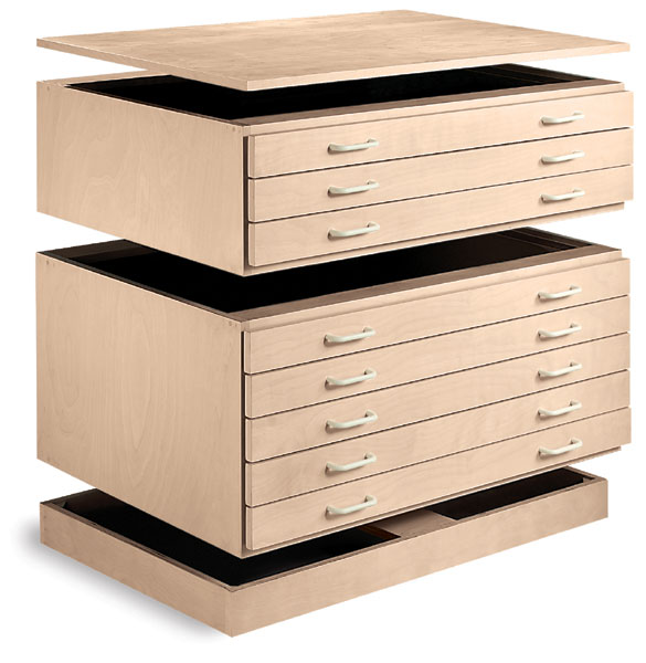 Cap, 3-Drawer File, 5-Drawer File, and Base