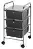 Mobile Storage Cart, 3-DrawerSmoke