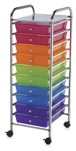 Mobile Storage Cart, 10-DrawerMulti