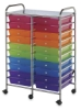 Mobile Storage Cart, 20-DrawerMulti