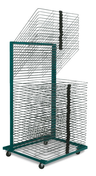 "40-Shelf Drying Rack with 18"" × 24"" Shelves"