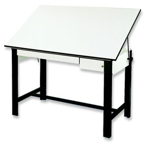 "Black Table, 37½"" × 60"""