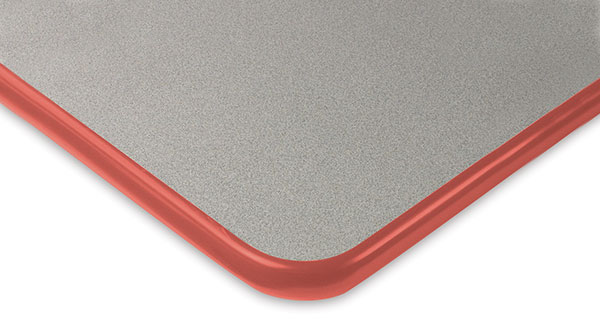 Gray with Red Trim