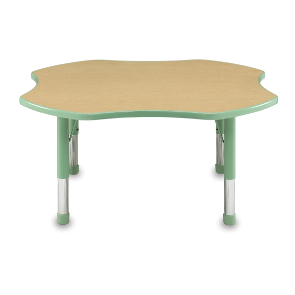 Clover Activity Table, Maple with Mint Trim