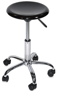 Desk Stool, Hi-Gloss Black