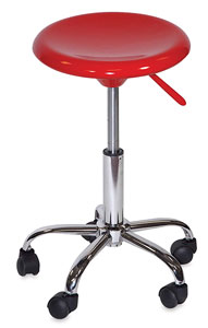 Desk Stool, Hi-Gloss Red