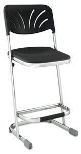 "Elephant Z-Stool with Backrest, 24""H"