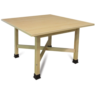 """Four-Student """"X"""" Table, Laminate Top"""