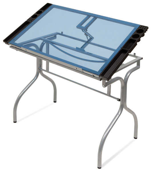 Glass Top Folding Craft Station