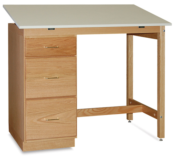 Pedestal Desk with One-Piece Top