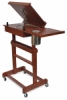 Rolling Painting Table as Easel, Side View
