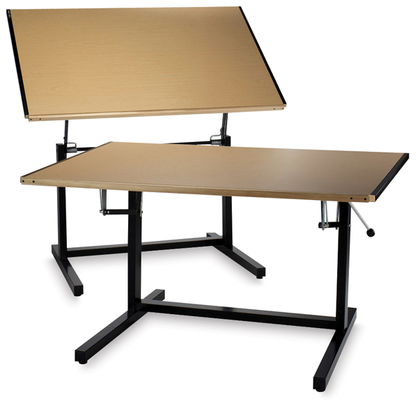 Dual Adjustment Drafting Table