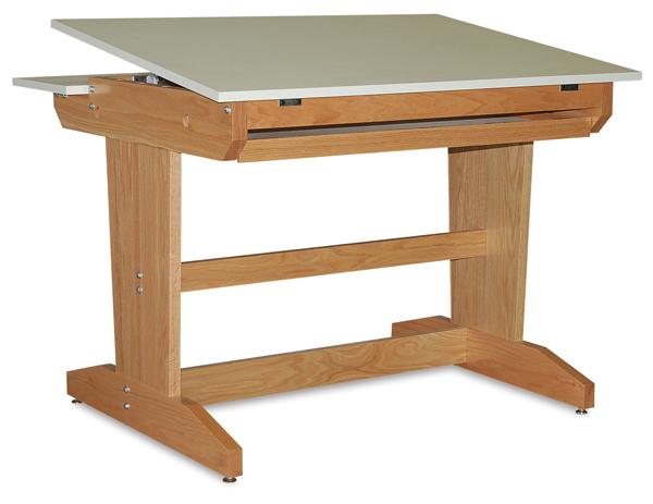 Art/Drafting Table, Natural Oak Finish