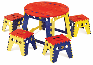 Folding Kids Table : ... Design Legacy Easy Folding Kids Table Set - BLICK art materials