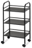 Mobile Shelf Cart, Black