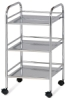 Mobile Shelf Cart, Chrome